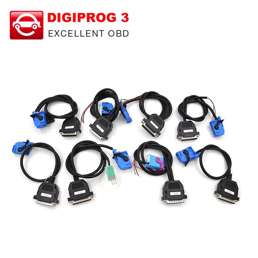Цена за Digiprog III полный набор Кабели для Digiprog3 Digiprog 3 Пробег программист DHL Бесплатная