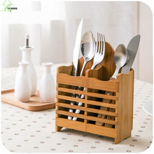 YI HONG Bamboo Hanging chopsticks box kitchen spoon storage racks chopsticks tube Lishui chopsticks rack