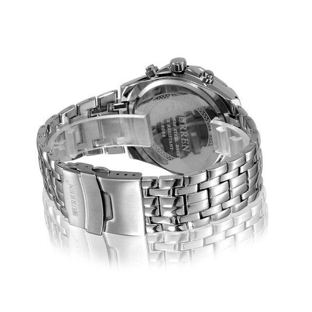 Men Business Watch Clock Curren Mens Watches Top Brand Luxury Military Full Stainless Steel Quartz Wrist Watch Relogio Masculino
