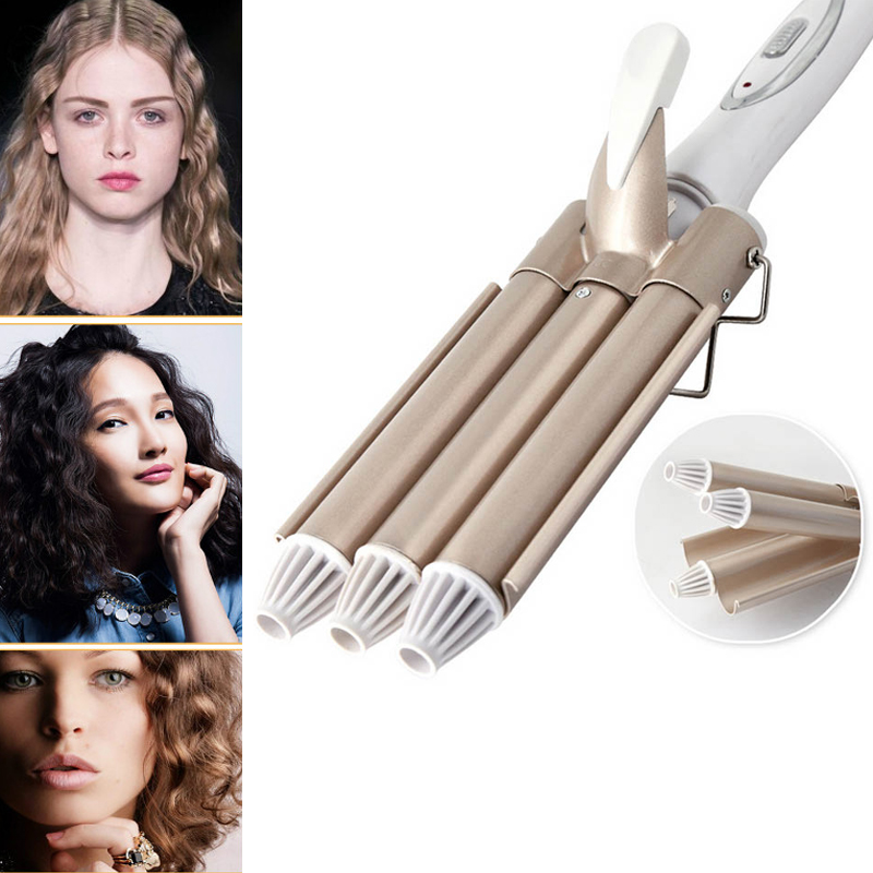 2018 New Professional Hair Care & Styling Tools Curling Hair Curler Wave Hair Styler Curling Irons Hair Crimper Krultang Iron 2017 new hot sale professional salon ptc heating white color ceramic negative ions steam automatic hair curler hair style tools