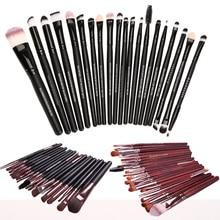 20pcs Facail Makeup Brushes Sets Coametic Eyeshadow Eyelash Lips Blusher Foundation Contour Brush Kits Makeup Tools
