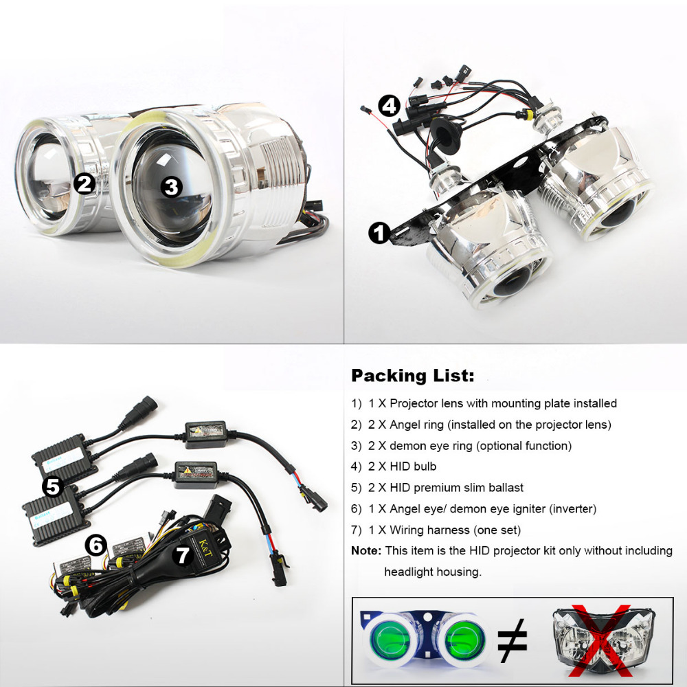 Kt Headlight Suitable For Kawasaki Z1000 2007 2009 Led Angel Eyes Wiring Diagram Red Demon Motorcycle Hid Bi Xenon Projector Lens 2008 On Alibaba