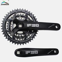 цена на bicycle crank sprocket Mountain bike crankset aluminum alloy MTB 22T / 32T / 44T Square 7/8/9 speed crank fluted disc Parts
