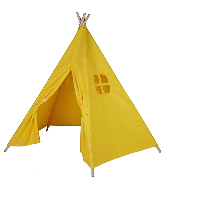 Free Love @5-poles yellow color kids play tent indian teepee playhouse  sc 1 st  AliExpress.com & Free Love @5 poles yellow color kids play tent indian teepee ...