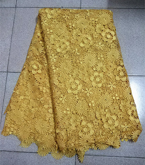 Item No SPS02 factory price African guipure lace fabric good quality embroidered cord lace fabric for