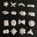 10 pçs/lote Zircão Unhas Strass Alta Qualidade Glitter Crown Anel Flor Desenhos de Unhas NP300