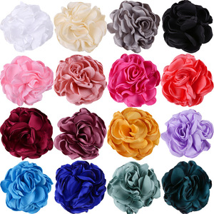 Nishine 5pcs/lot Artificial Rose Flowers Handmade Rosette Burning Flowers for Diy Kids Girls Hair Accessory Party Decoration(China)