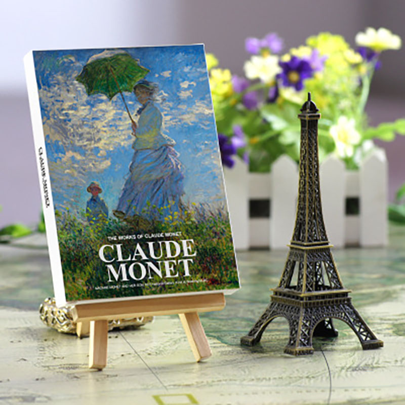 30sheets/LOT Claude Monet Oil Painting Postcard Vintage Claude Monet Paintings Postcards/Greeting Card/wish Card/Fashion Gift