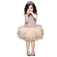 1-6 Y Kids Toddler Baby Princess Dress Girls Pageant Wedding Party Flower Tulle Tutu Dresses Girls Vestido DR5046
