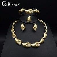 Hot Fashion African Of Women Wedding Jewelry Sets Bridal Dubai White Gold Beads Exaggerate Necklace Bangle