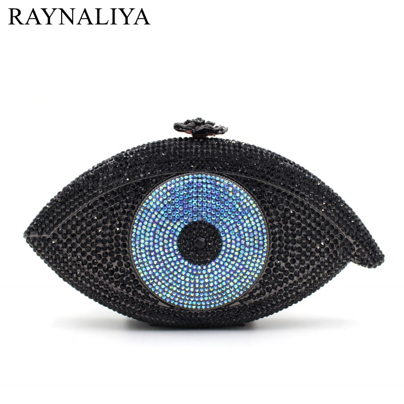 2017 New Real Minaudiere Evil Eye Bag Women Clutch Evening Bags Femme Pochette Luxury Crystal Day Party Purse Smyzh-e0027 new women handmade prom clutch evening bag luxury party bags lady crystal minaudiere diamonds day clutches smyzh e0067