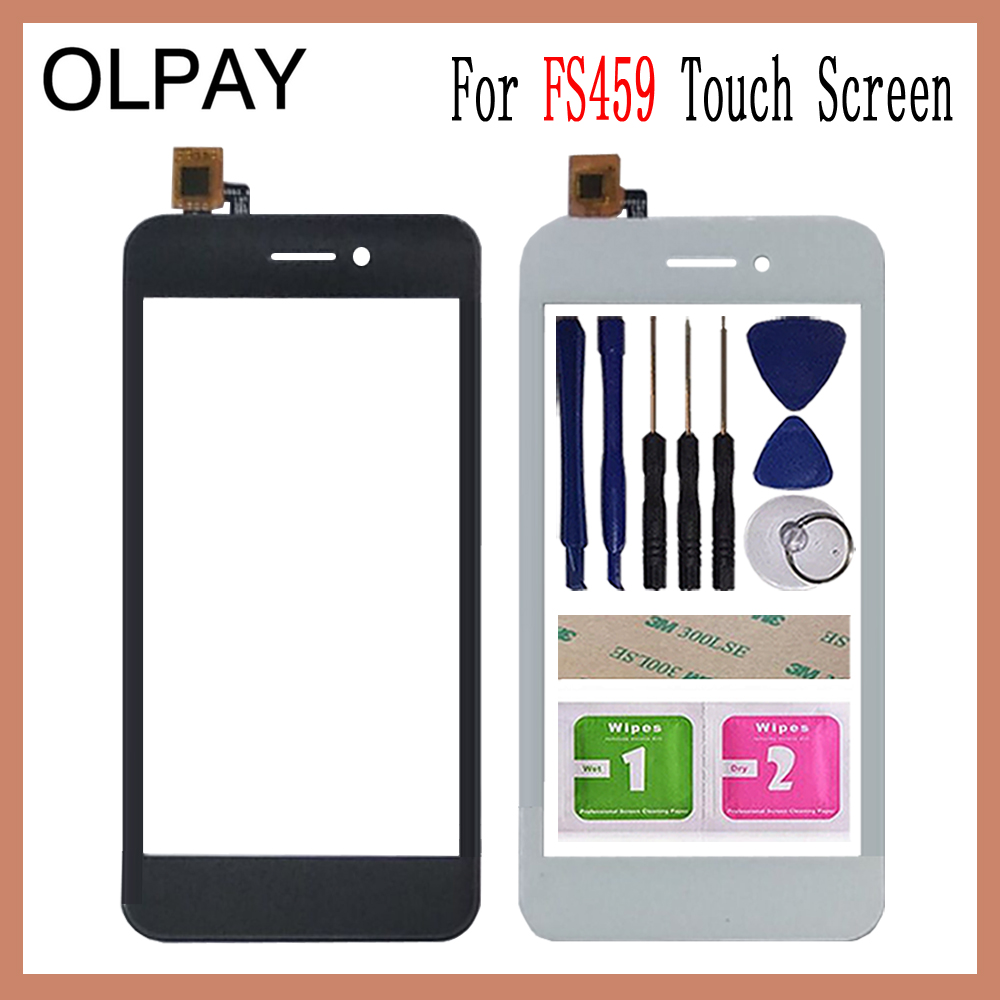 OLPAY 4.5'' Touch Glass Panel For Fly FS459 Nimbus 16 Touch Screen Digitizer Glass Sensor Tools Free Adhesive+Clear Wipes image