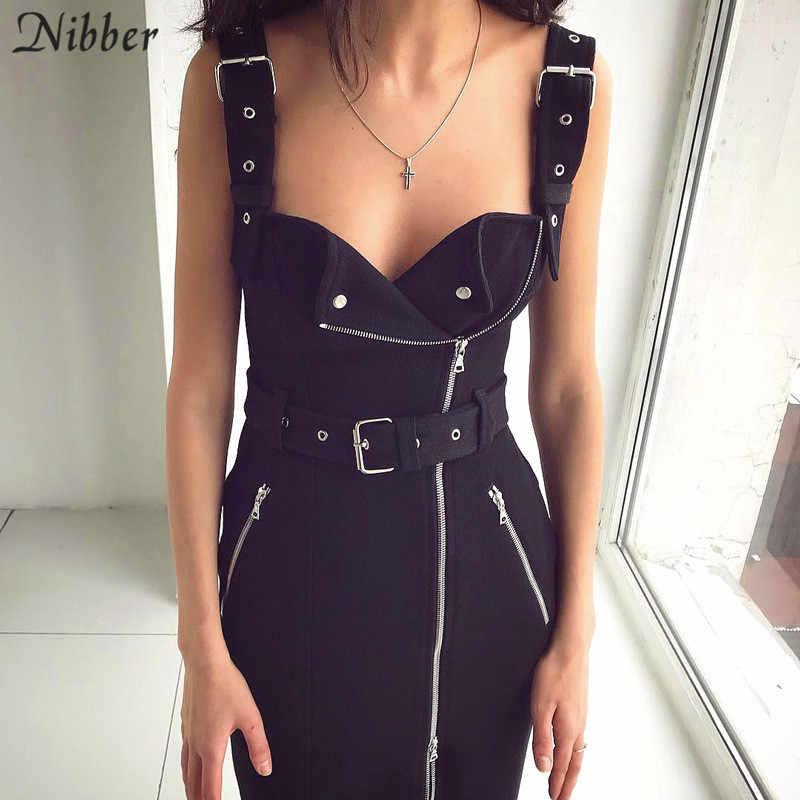 Nibber/красное клетчатое платье с принтом, украшенное черным поясом, женское Повседневное платье 2019, весеннее модное женское платье без рукавов на бретельках