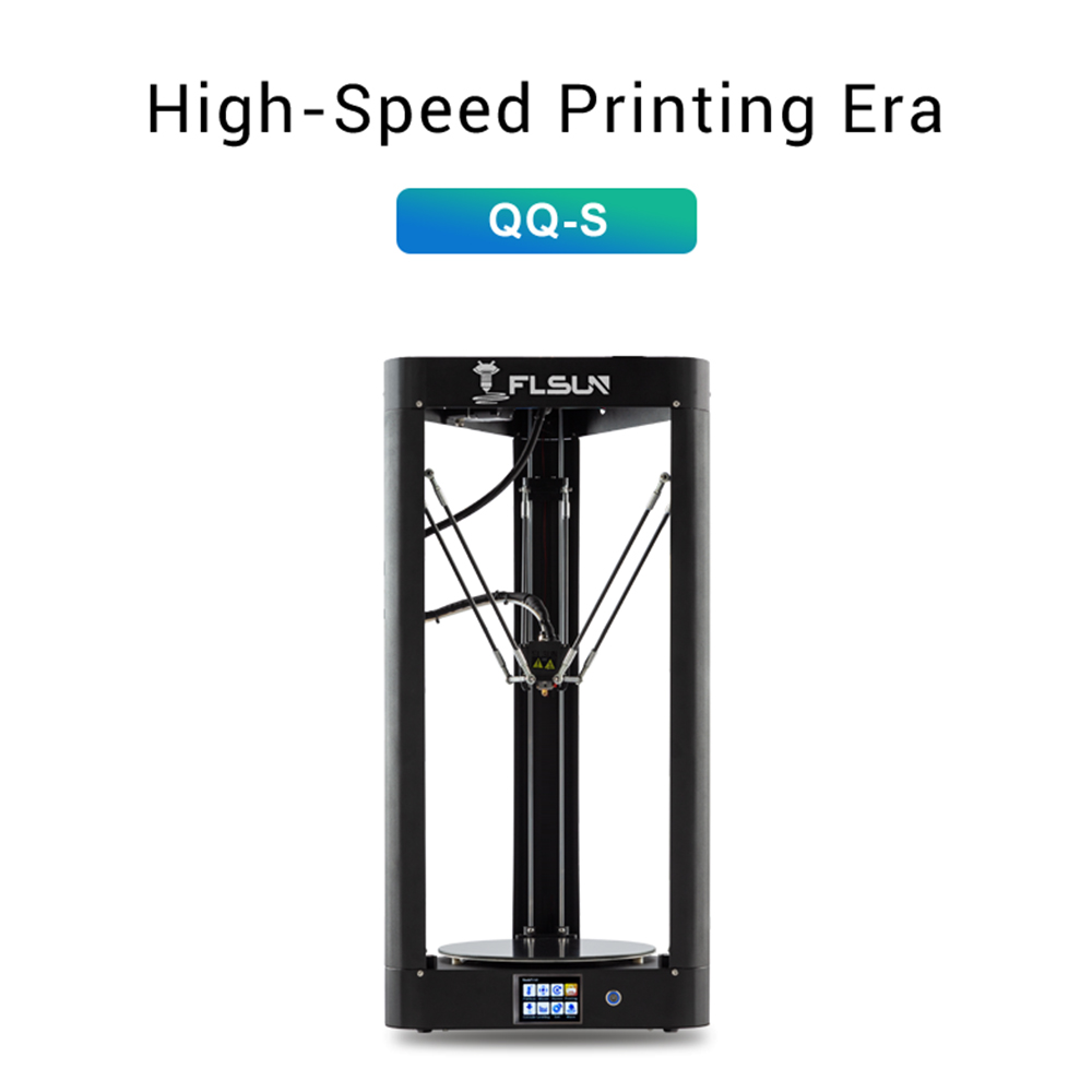 2019 FLSUN QQ-S Delta Kossel 3D Printer High speed Large printing size 3d-printer