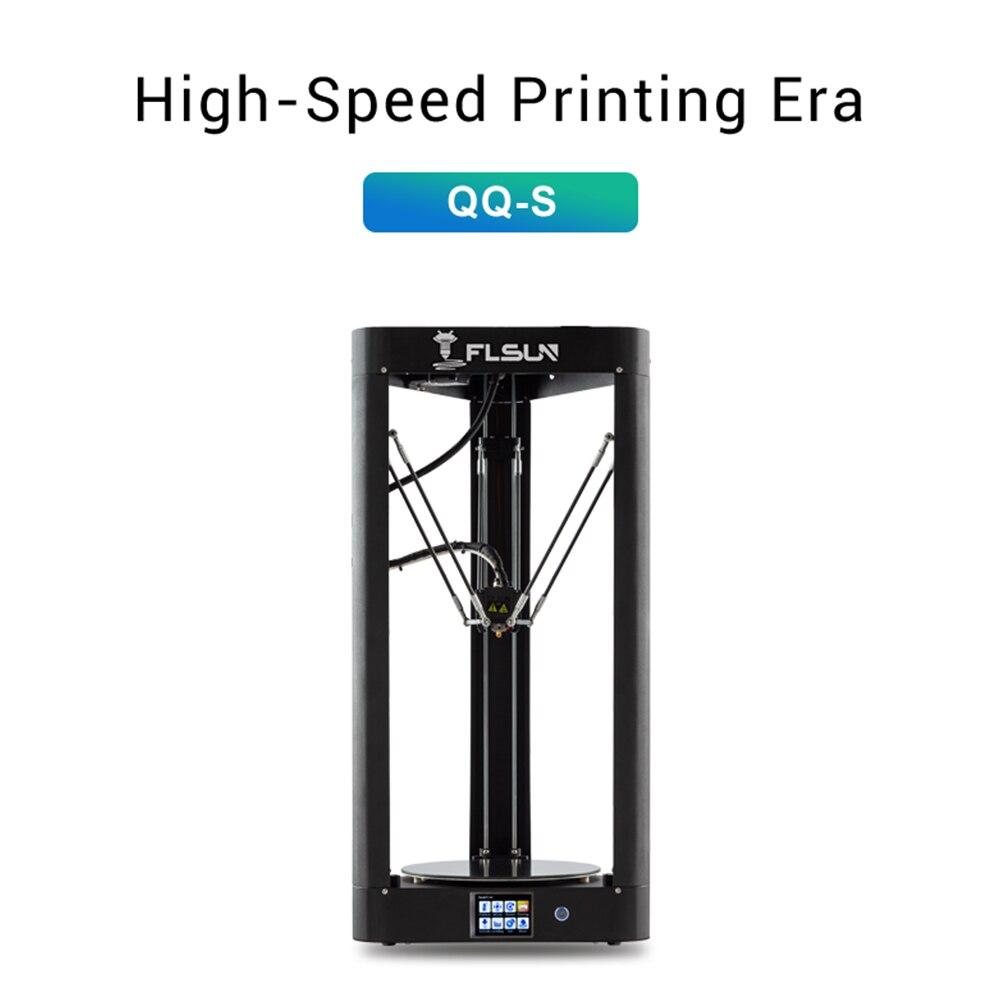 2019 flsun QQ-S delta kossel impressora 3d de alta velocidade grande tamanho de impressão 3d-printer tela de toque de nivelamento automático wifi