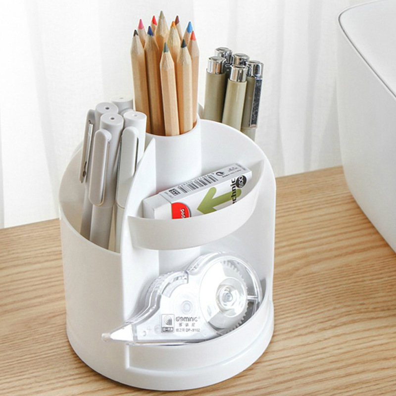Coloffice Creative Pen Holder Desktop Plastic Pen Holder Multi-Function Storage Box Office Supplies Student Stationery Storage