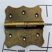 10pcs 60 50MM Antique Detachable Hinge Big Wooden Gift Box Hinge Metal Packaging Metal Archaized Hinge