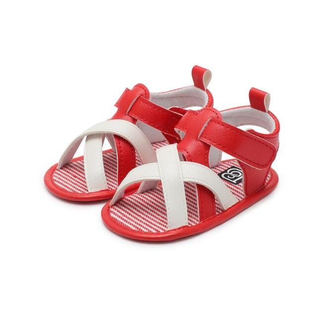 b7a9093bd27 Infant Toddler PU baby girl shoes Sandal Magic Tape Soft Sole Non-Slip  Sneaker Prewalker For Summer U.S Size high quality