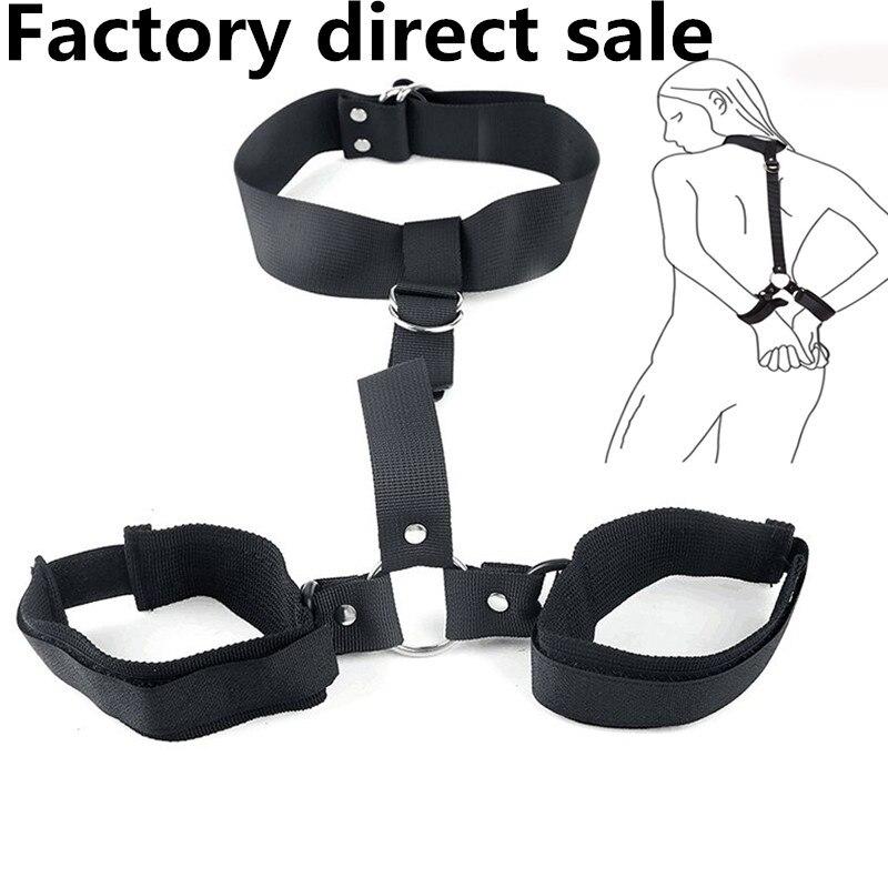 Factory Direct Sale Sex Toy Set Sm Bdsm Bondage Set Women's Erotic Sexy Lingerie Handcuffs For Sex Games Toys For Adults BDSM