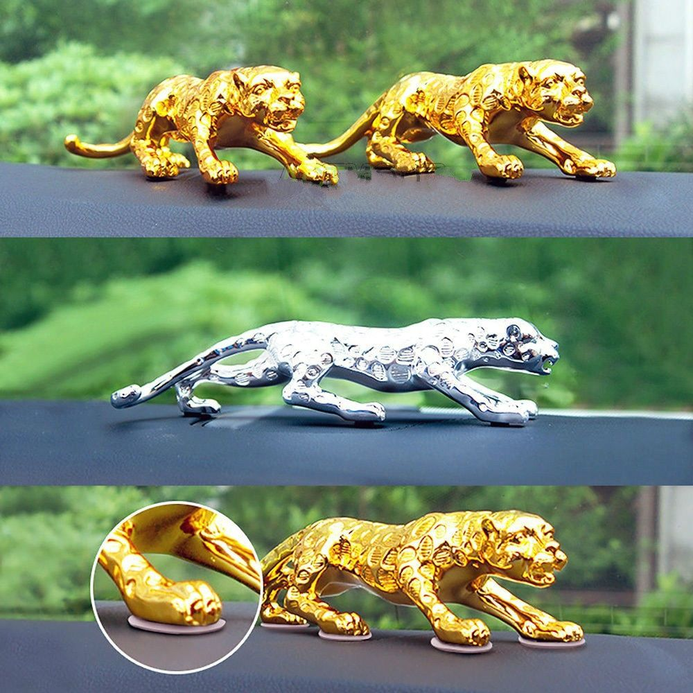 Leopard Car Decor interior Cat Home Office  Metal Statue \\