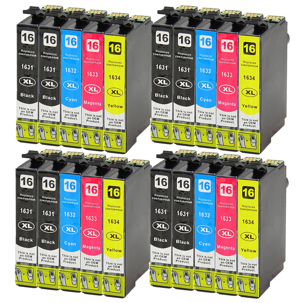 20x T1631 Ink Cartridges Compatible for Epson Workforce WF-2520NF WF-2630WF WF-2750DWF20x T1631 Ink Cartridges Compatible for Epson Workforce WF-2520NF WF-2630WF WF-2750DWF