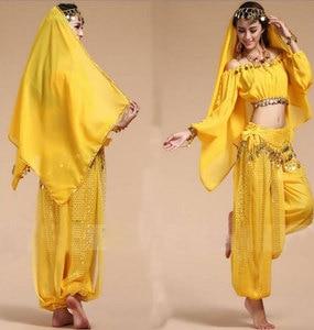 Image 3 - בוליווד הודי ריקוד תלבושות סט לנשים שיפון בוליווד Orientale בטן ריקוד תלבושות סט לאישה