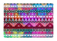 Floor Mat Purple Pink Neon Bright Andes Abstract Geometric Bohemia Print Non-slip Rugs Carpets For Indoor Outdoor Living Room