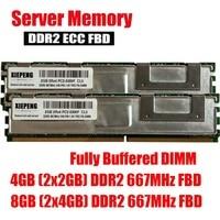 Server memory 4GB (2x 2GB) DDR2 ECC FBD 8GB 667MHz FB DIMM 4GB 2Rx4 PC2 5300F Fully Buffered DIMM 240pin 5300 RAM