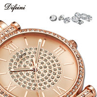 2017 New Arrival Luxury Women Watches Rhinestone Ladies Watch Women Fashion Casual Dress Quartz Watches Relogio
