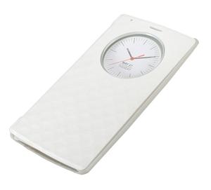Image 5 - Pour LG G4 étui de cercle intelligent rapide couverture arrière en cuir à rabat officiel de luxe avec charge sans fil NFC et Qi