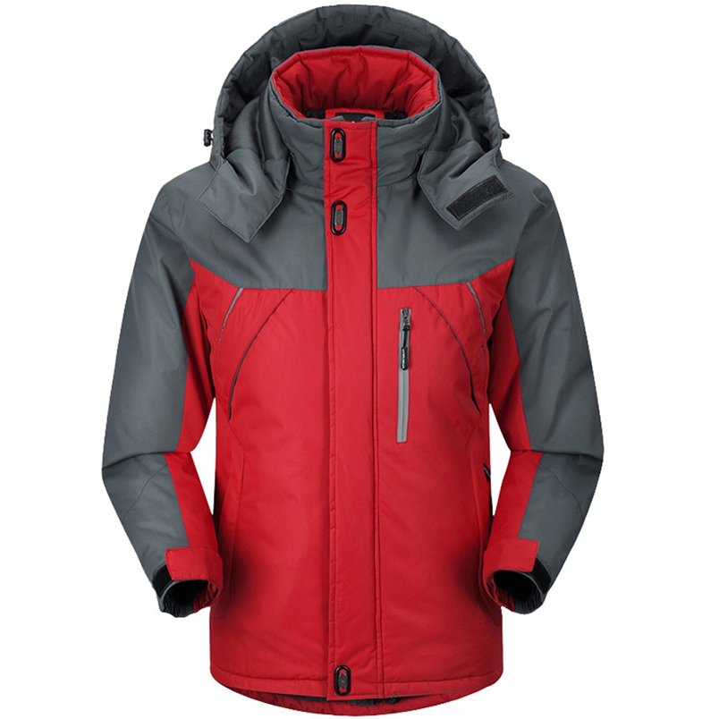 Men Jacket Fashion Cloth Casual Coat Winter Long Sleeve Warm Hooded Zip Thick Fleece Coat Wind Jacket Outwear #FS#4OT25