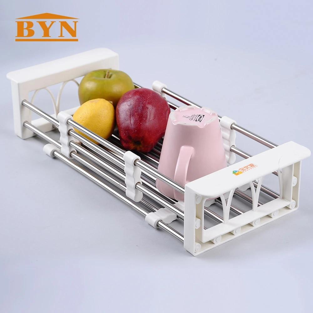 Kitchen Dish Cup Drying Rack Holder Sink Drainer Dryer Fruit Vegetable Wash