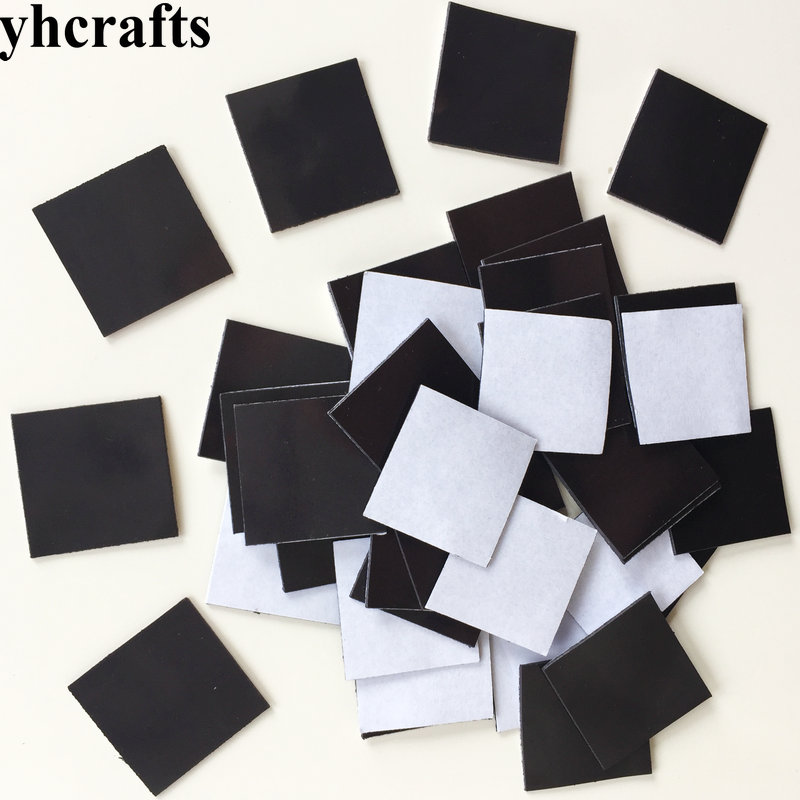 10PCS/LOT 3cm Soft Magnet With Tape Craft Material DIY Your Own Fridge Magnet Kindergarten Craft Diy Toys Creative Activity Item