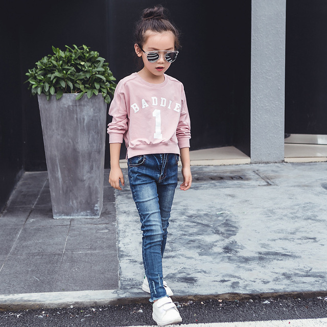 on behalf of the spring and autumn big girls coat cotton long sleeved T-shirt children autumn children clothes