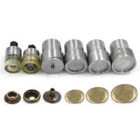 201 snap button mold. Metal tools. die. Hand press machine. Button to install the mold. Top cover 17mm 20mm diameter. 6PCS=1SET