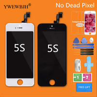 YWEWBJH 10Pcs Lot AAA Quality LCD Screen Touch For IPhone 5S Display Digitizer Assembly No Dead