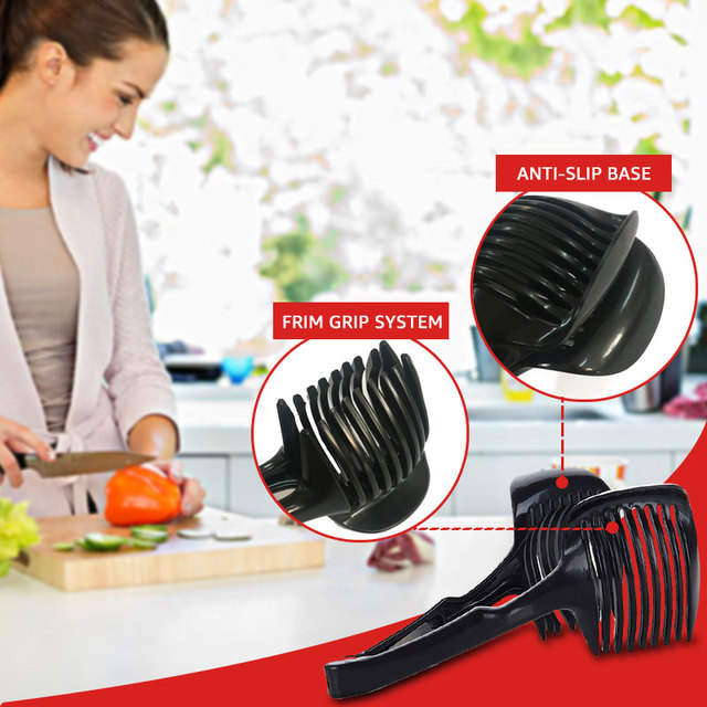Tomato and lemon and onion slicer multifunctional handheld