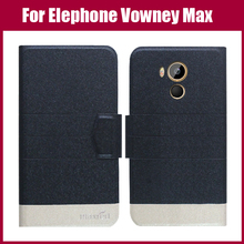 Hot Sale! New Arrival 5 Colors Fashion Flip Ultra-thin Leather Protective Cover For Elephone Vowney Max Case