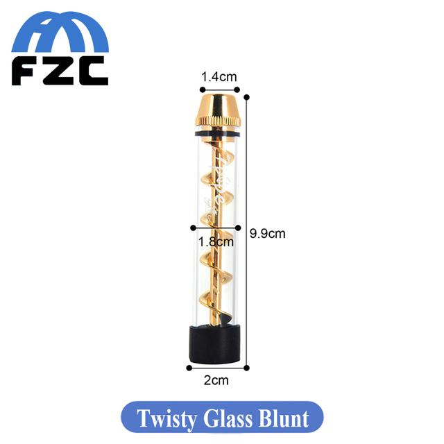Lo nuevo de vidrio Cerrado Sinuoso Fácil Torcer y Diseño Sacacorchos con Combo Helicoidal Vaping Vaporizador de Hierba Seca Cigarrillo electrónico Kit