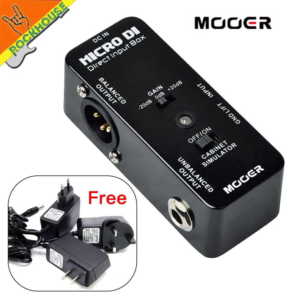 MOOER Micro DI Direct Input box Guitar Bass DI Effects Pedal Balanced Signal output to Sound System Free shipping mooer ultra low distortion micro di direct input box effect pedal true bypass guitarra accessory