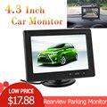 Monitor de seguridad de estacionamiento de visión trasera del coche de 4,3 pulgadas 480x272 pantalla LCD TFT de Color para DVD de la Cámara inversa