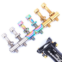 RISK 2x Bike Seat Post Fixed Bolts Titanium Alloy M5*30/40mm MTB Mountain Road Folding Bicycle Saddle Screw Colorful
