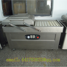 DZ-600 / 2S stainless steel double chamber vacuum packaging machine Hot dog   Beef and chicken vacuum packaging machine