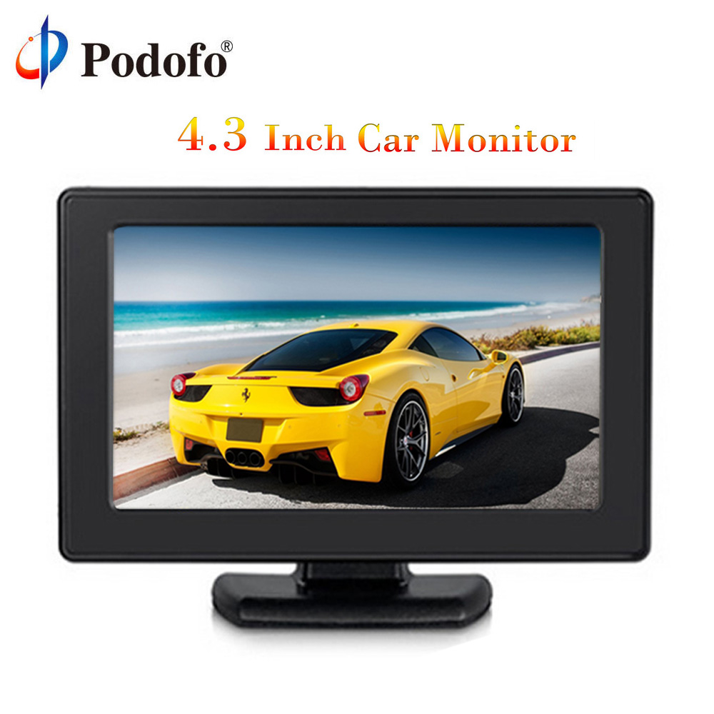 Podofo 4.3 Color TFT LCD Monitor 8 High Resolution 2-Channel Video Input Display Monitor Screen For DVD VCD Security Monitor Podofo 4.3 Color TFT LCD Monitor 8 High Resolution 2-Channel Video Input Display Monitor Screen For DVD VCD Security Monitor