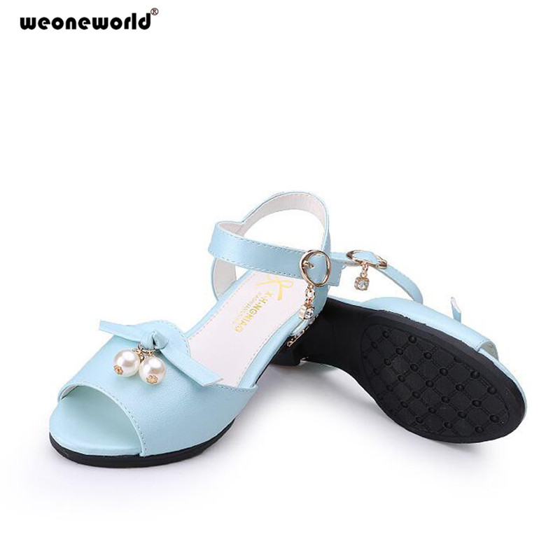 WEONEWORLD Summer Boys Shoes 2018 New Fashion Boys Leather Sandals Rubber  Sole Children Male Sandals Kids ... 4a23854c5f11