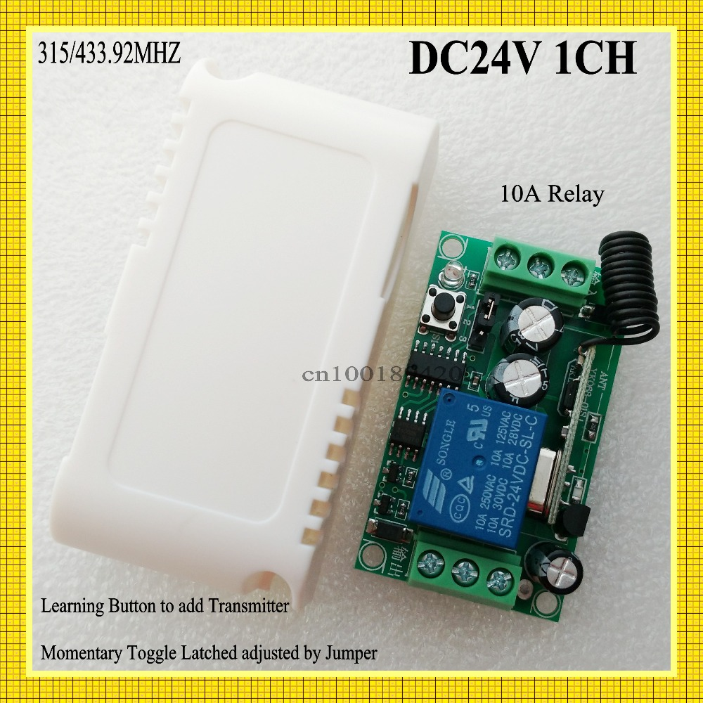 Dc 24v 1ch Remote Switch 10a Relay Switching Wireless Controller No Circuit Com Nc Button On Off Switches 315 433 Ask Smart Home In From Lights