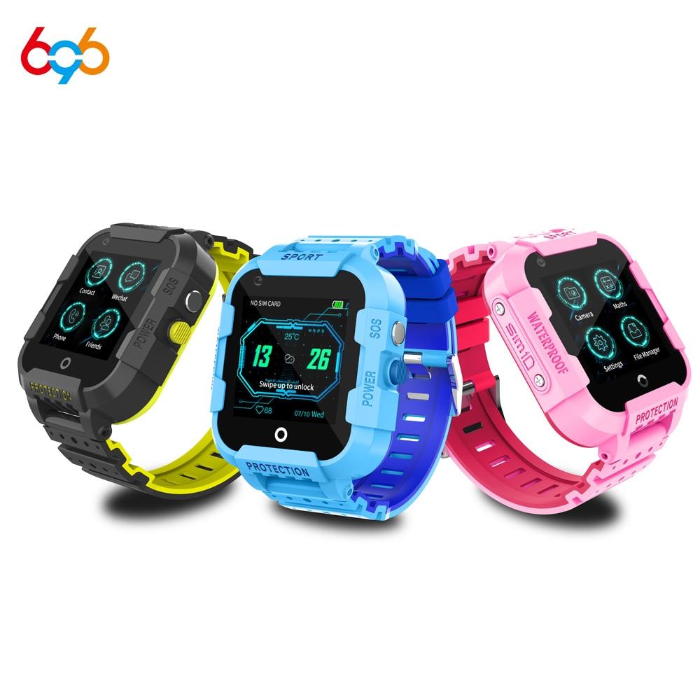 696 DF39Z 4G enfants montre intelligente GPS Wifi Tracker Smartwatch écran tactile SOS SIM appel téléphonique étanche enfants caméra montre DF39