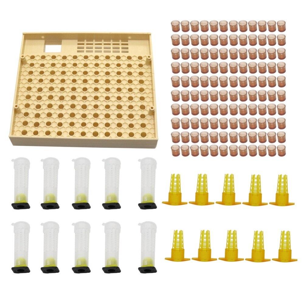 Bienenzucht Cupkit 120 Zelle Cups Bee Werkzeug Set Königin Aufzucht System Bee Nicot Komplette Catcher Käfig Imkerei Helfer