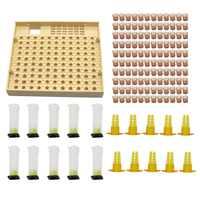 Pszczelarstwo Cupkit 120 kubki komórkowe zestaw narzędzi pszczelich System hodowli królowej pszczoła Nicot kompletna klatka Catcher Apiculture Helper