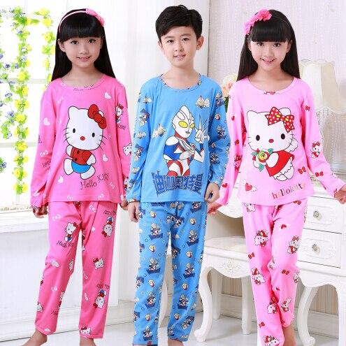 9af0ce360 Pajamas kids Cartoon Boys Sleepwear Girls Pyjamas Leisure Children ...